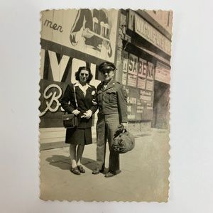 Other - Vintage Photograph Woman with Military Man Photo